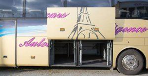 Autocars avec grand espace de bagages